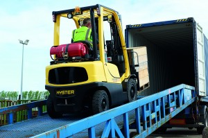Hyster H2.5FT Fortens LPG _freight & logistics application