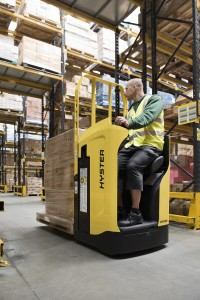 Hyster launches tough Rider Pallet Truck -sitting position