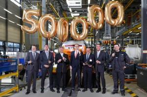 Mit der Produktion des 500.000sten Gegengewichtsstaplers im Hamburger Werk setzt die STILL GmbH einen weiteren Meilenstein in ihrer Firmengeschichte.
