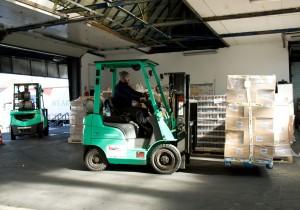 Drei neue GRENDiA Gasstapler, zwei mit 3,5 und einer mit 1,5 Tonnen Traglast, sind seit neuestem die Umschlaghelfer bei der Spedition Albrecht in Wuppertal.
